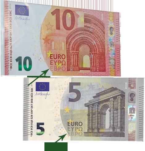 название валюты указано на кириллице (EBPO)