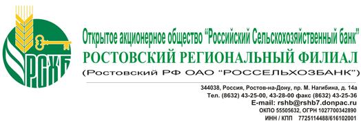 Россельхозбанк Ростов