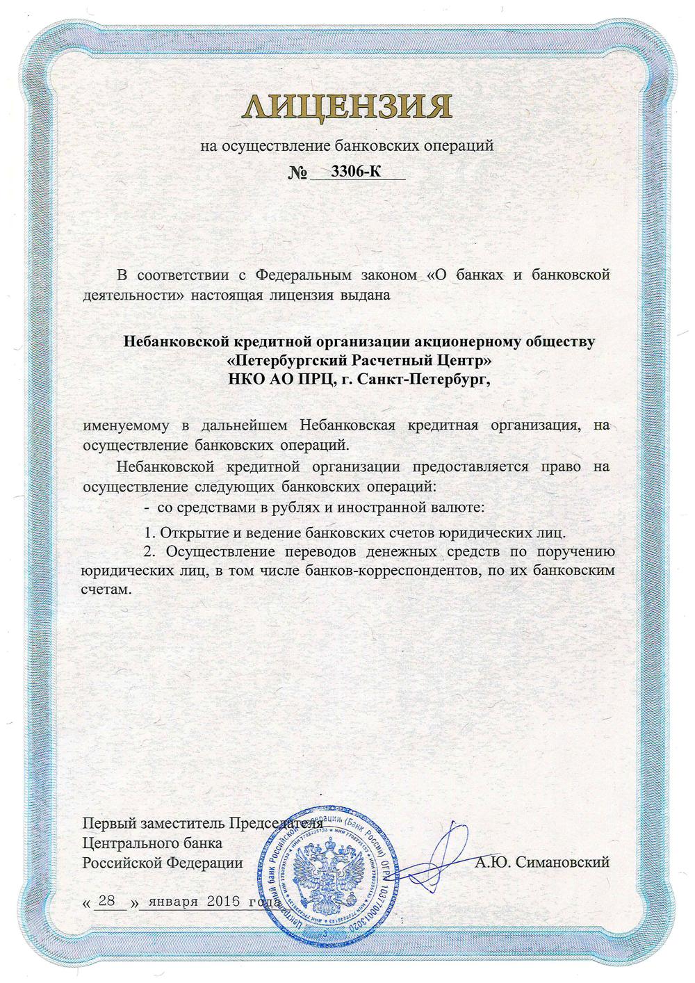 лицензия кредитной организации
