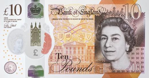 Полимерная банкнота номиналом £10